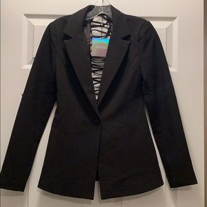 Missguided Blazer with back detail US2